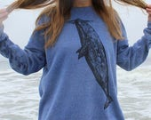 Whale Hugger and Bull Kelp Crewneck Sweatshirt