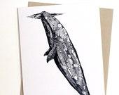 Whale Hugger Card