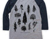 Tree Species on Unisex Baseball T-Shirt