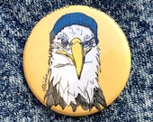 Eagle in Toque Button...