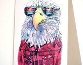 Eagle in Shades Card...