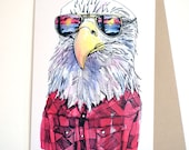 Eagle in Shades Card