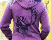 Totem, Buck and Treeline Zip Hoodie