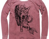 Catfish Girl on Boatneck Sweatshirt