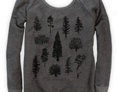 Tree Species on Boatneck Sweatshirt