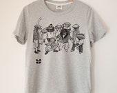 Wu-Tang Clams Printed Ladies Crewneck Boxy T Shirt | 100% Organic Cotton Top | Made in BC