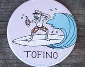 Surfer Captain Fridge Magnet | Made in BC | Nautical Magnet