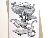 Mermaid Fiddles Card...