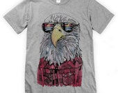 Hipster Eagle on Unisex T-Shirt