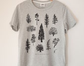 Tree Species Printed Ladies Crewneck Boxy T Shirt | 100% Organic Cotton Top | Made in BC