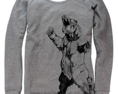 Bear Hugger on Boatneck Sweatshirt