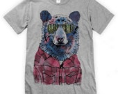 Hipster Bear on Unisex T-Shirt