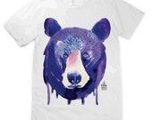 Watercolour Bear Face Unisex T-shirt