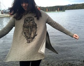 Owl & Anchor on Olive Gre...