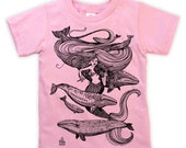 Mermaid Fiddles on Kids T-shirt