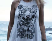 Bear in Shades Drift Tank Top