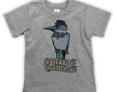 Kingfisher in Hat on Kids T-shirt