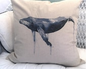 Watercolor Whale Pillowca...