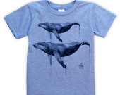 Watercolour Humpback's on Kids T-shirt
