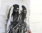 Skeletons Light Grey Zip Hoodie NOTE: this item now a slighter darker grey