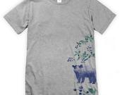 Watercolour Bear and Blackberries Unisex T-Shirt