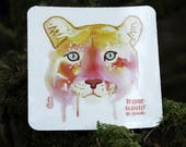 Watercolor Cougar Sticker...