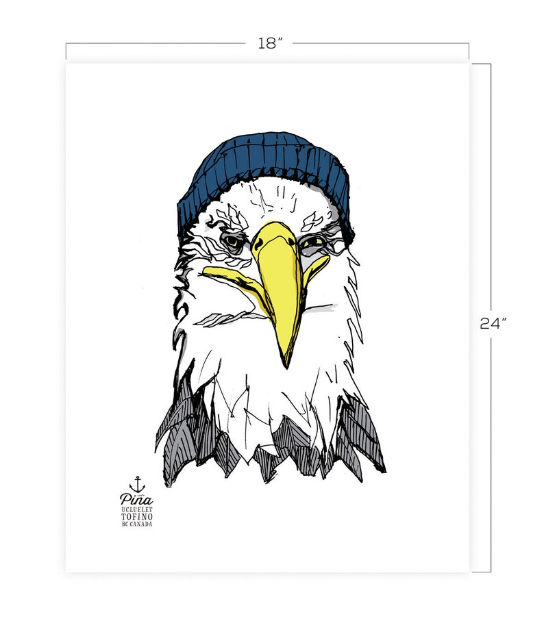 Eagle and Toque Downloadable Print 18 x 24 image 0