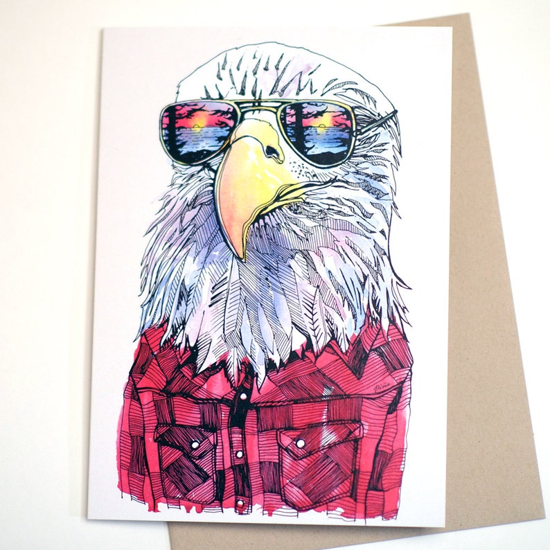 Eagle in Shades Card image 0
