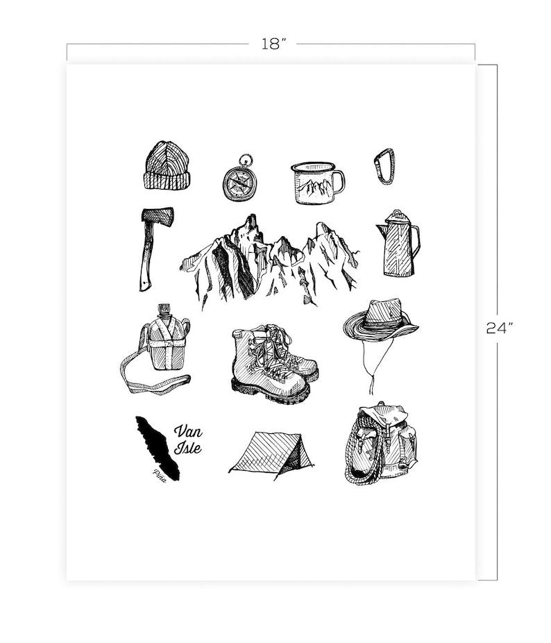 Hiking Gear Downloadable Print 18 x 24 image 0