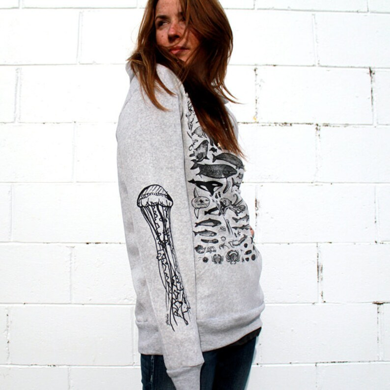 Species of Ucluelet Grey Pullover Hoodie NOTE: this item now a image 0