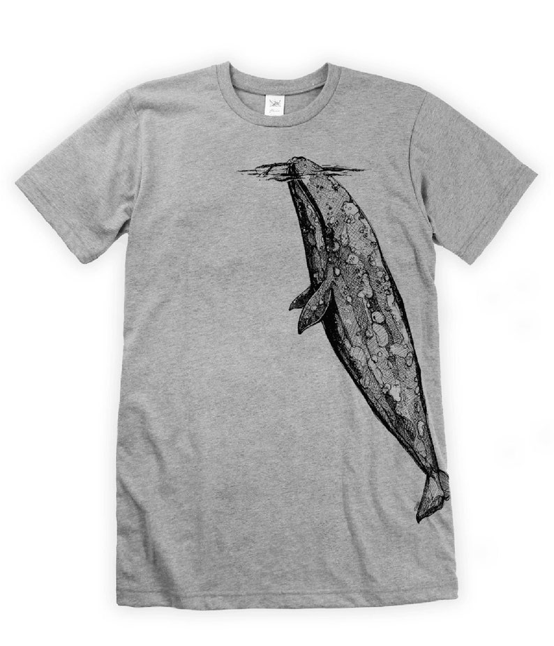 Whale Hugger on Unisex T-Shirt image 0