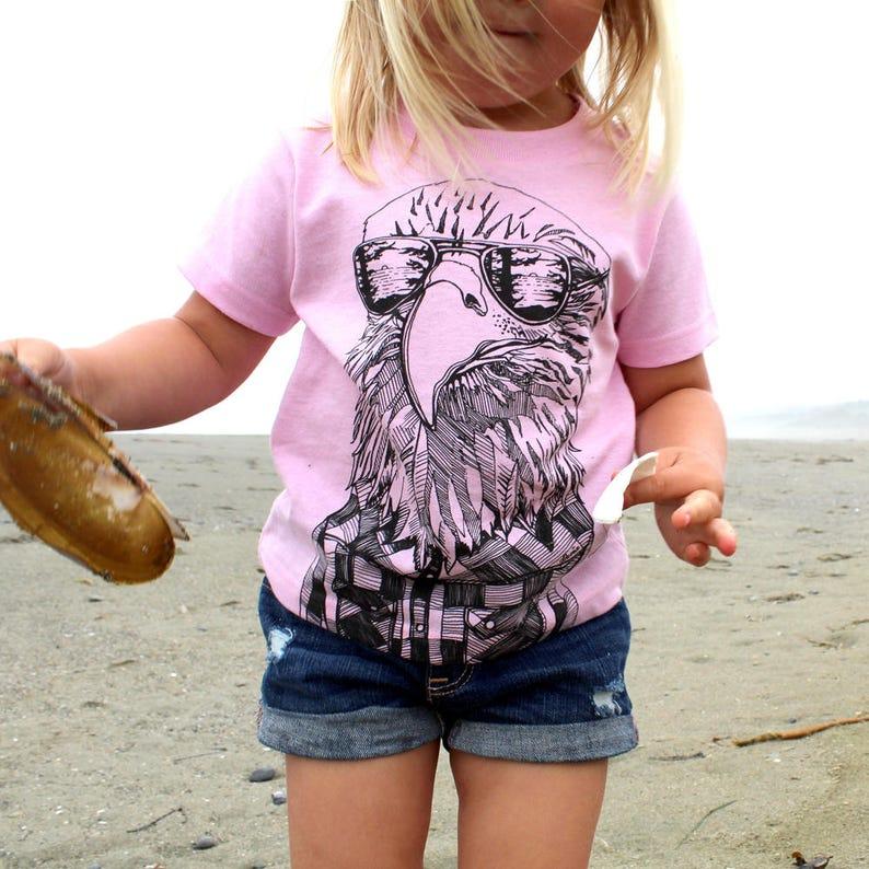 Hipster Eagle Kids Tee image 0