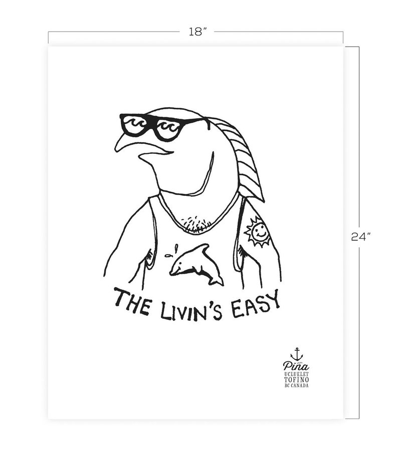 Livin's Easy Downloadable Print 18 x 24 image 0