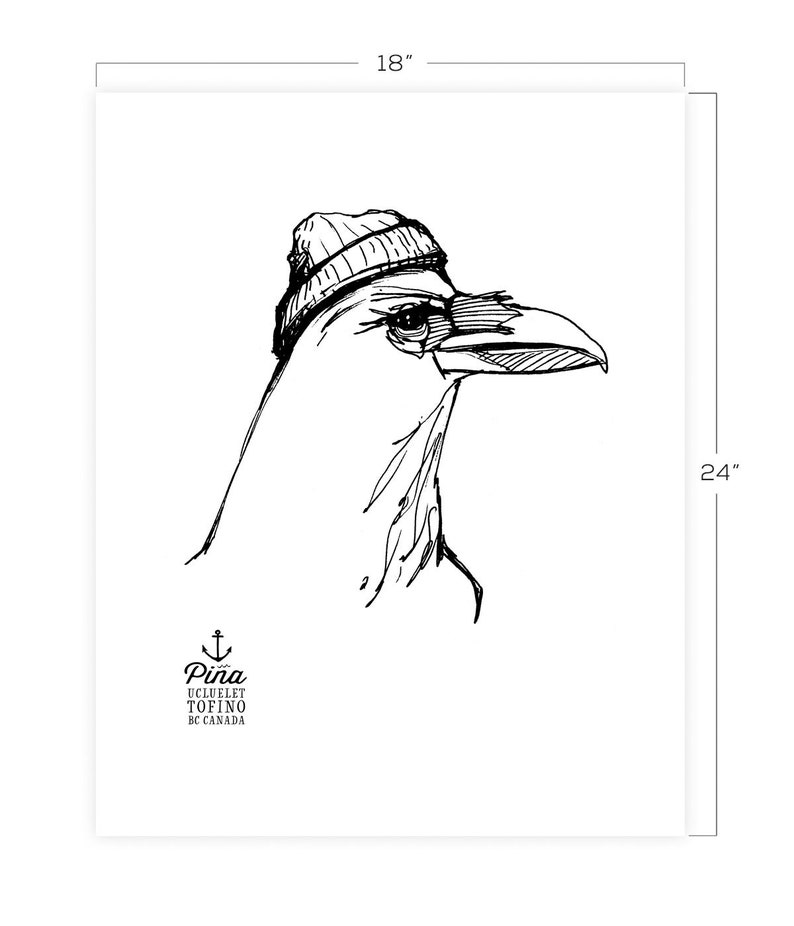 Crow with Hat Downloadable Print 18 x 24 image 0