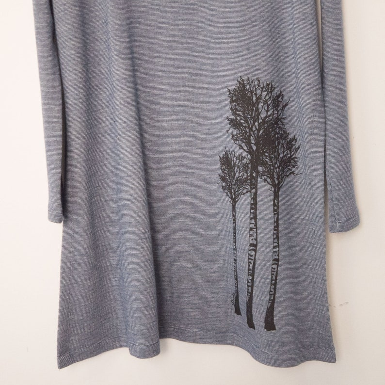 Size M Bear Hugger and Birch Trees Ocean Poncho