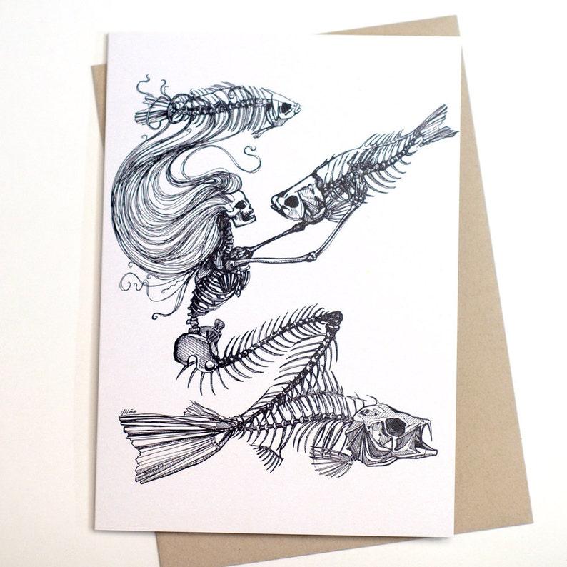 Skeleton Mermaid Card image 0