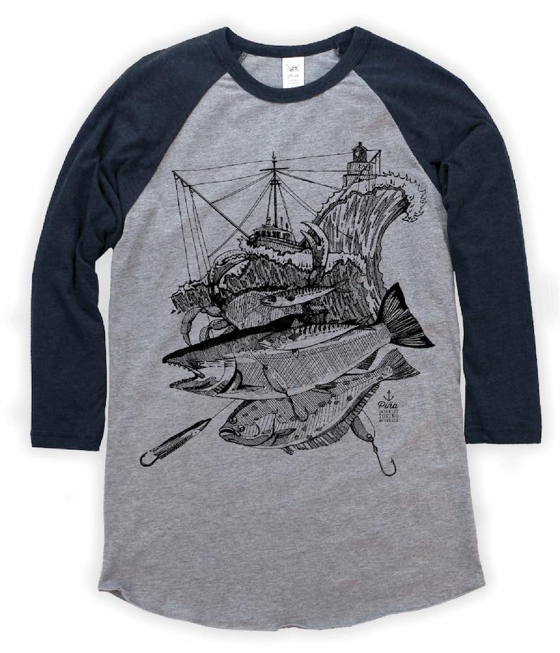 Troller Storm on Unisex Baseball T-Shirt image 0