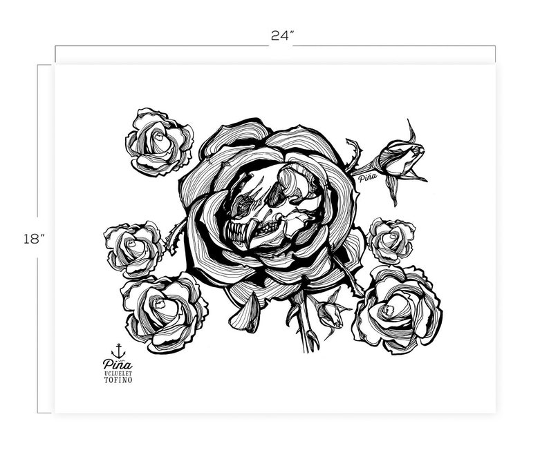 Grizzly Rose Downloadable Print 18 x 24 image 0