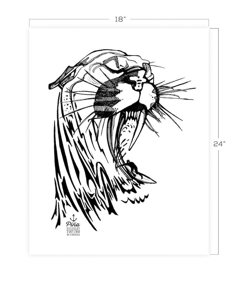 Cougar Wave Downloadable Print 18 x 24 image 0