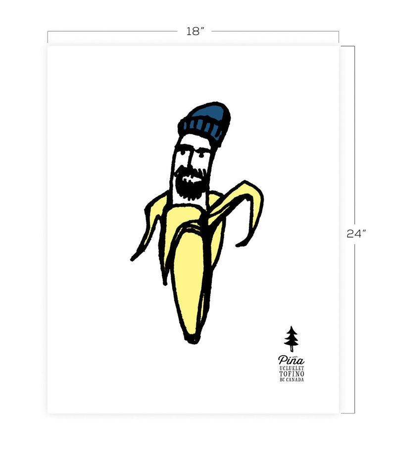 Hipster Banana Downloadable Print 18 x 24 image 0