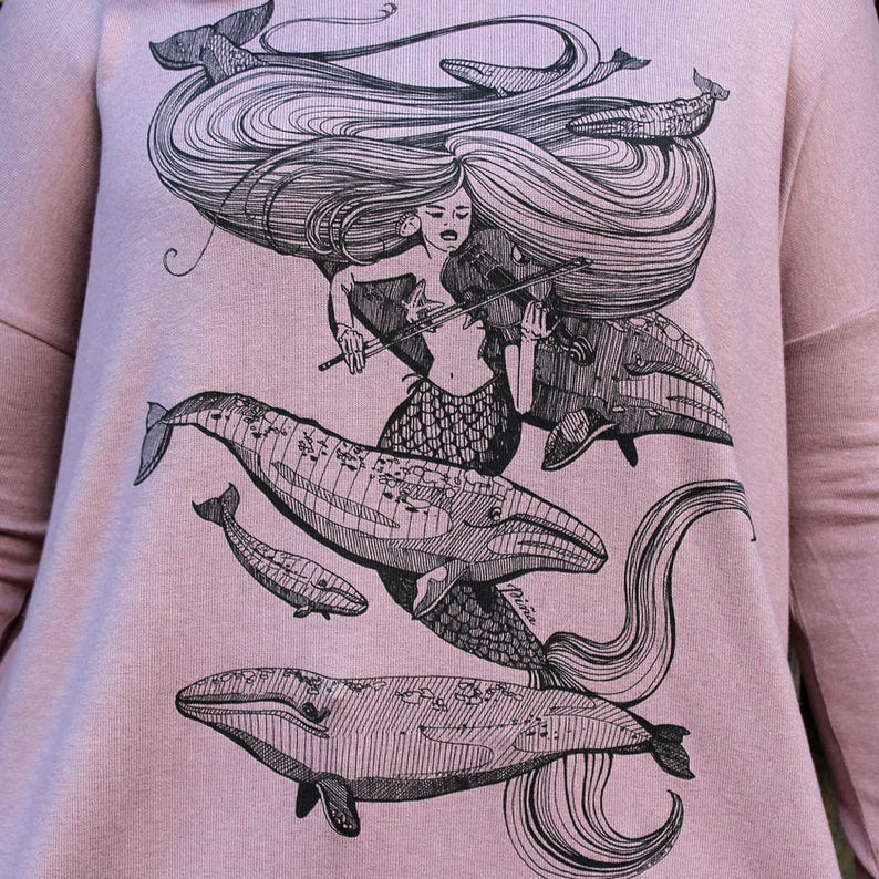 Mermaid Fiddles Greywhales and Starfish Florencia Top image 0