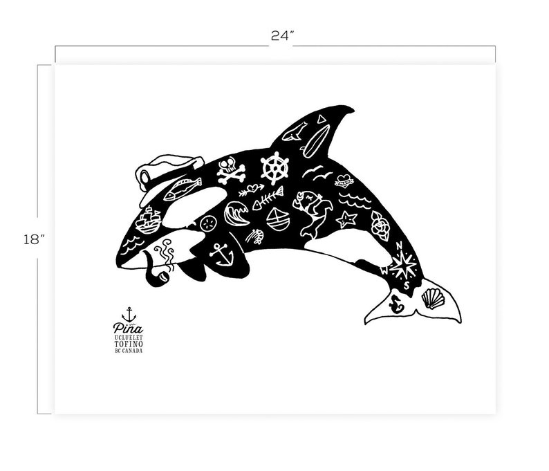 Tattoo Orca Downloadable Print 18 x 24 image 0