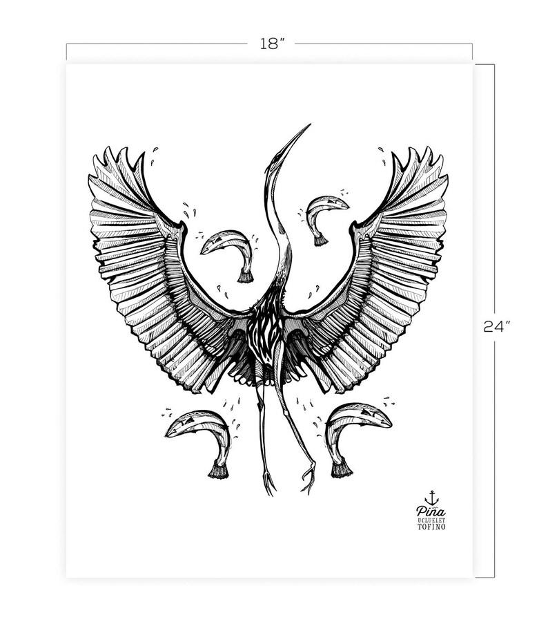 Heron Dancing Downloadable Print 18 x 24 image 0