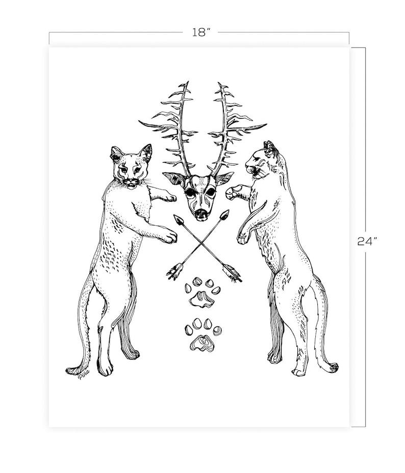 Cougar Crest Downloadable Print 18 x 24 image 0