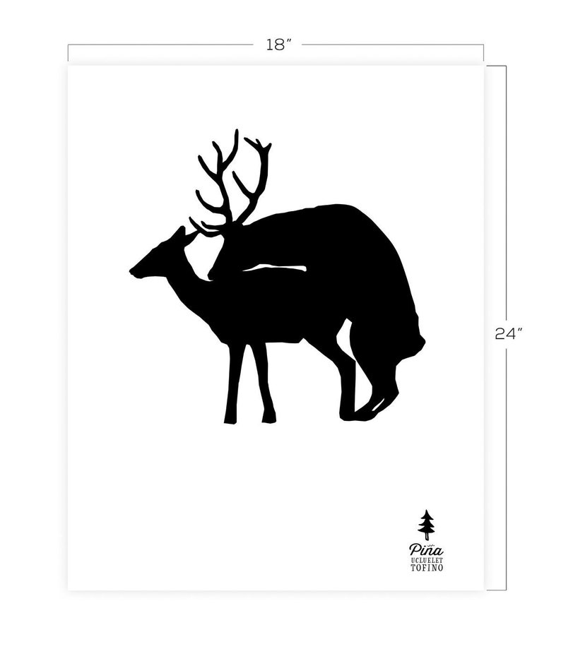 Humping Deer Downloadable Print 18 x 24 image 0
