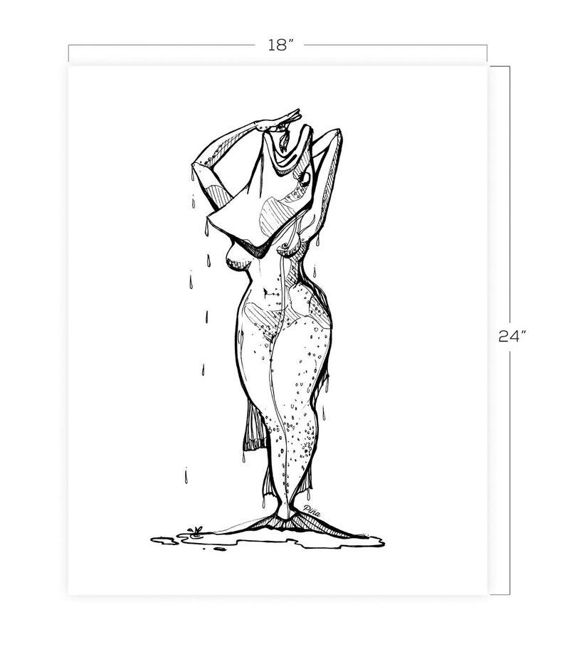 Fish Lady Downloadable Print 18 x 24 image 0