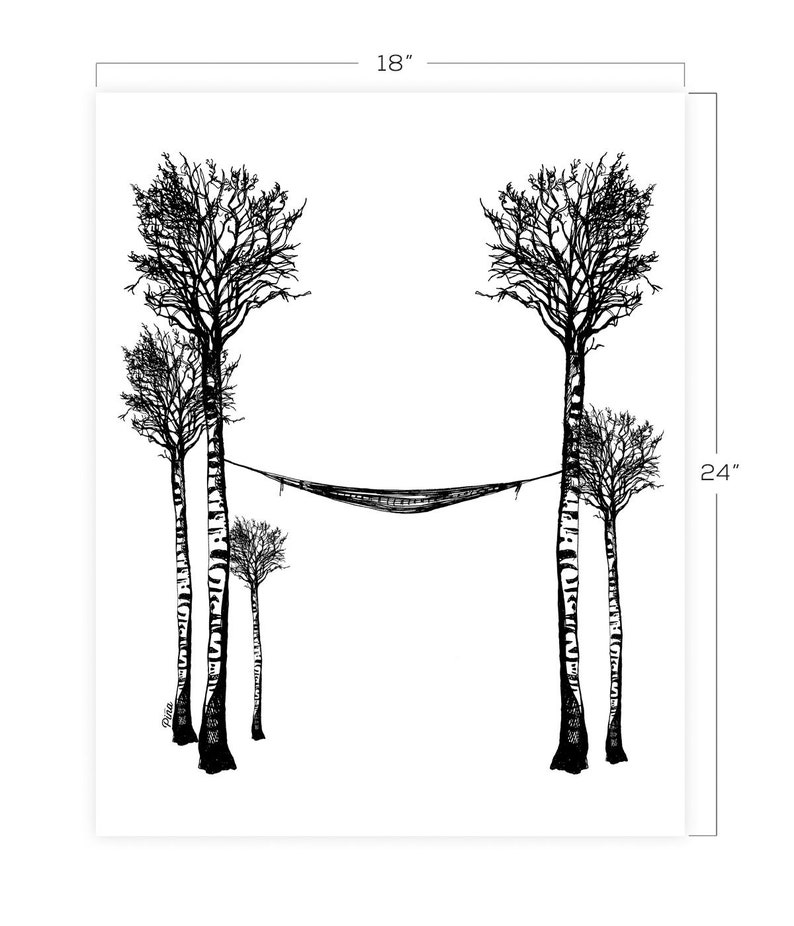 Birch and Hammock Downloadable Print 18 x 24 image 0