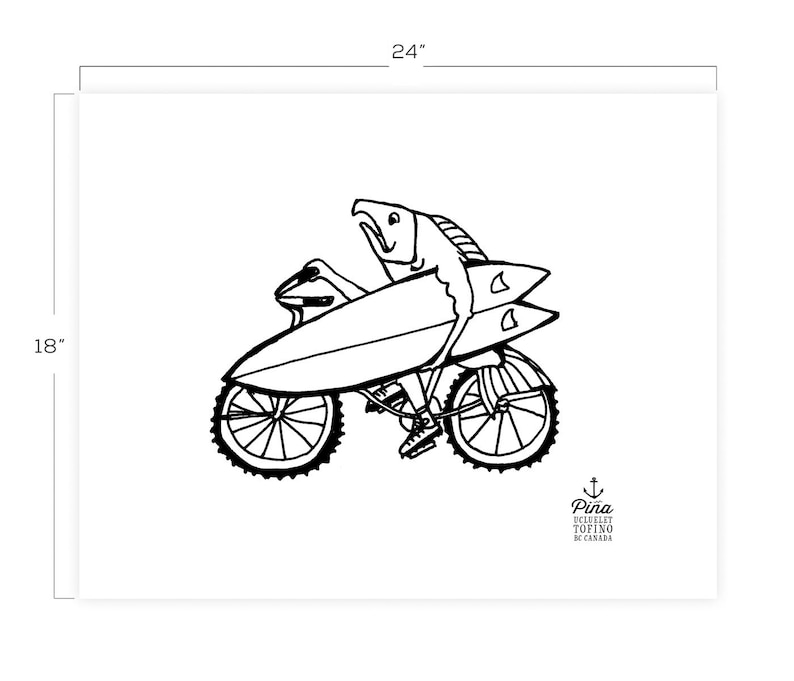 Fish on Bike Downloadable Print 18 x 24 image 0