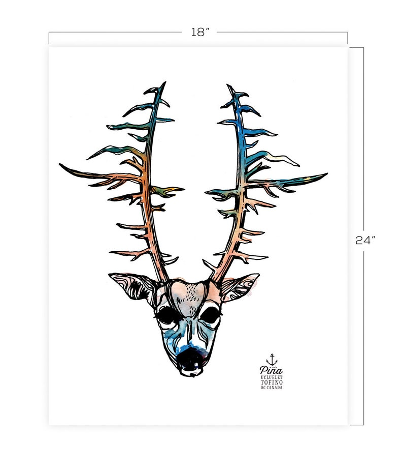 Deer Portrait  Downloadable Print 18 x 24 image 0