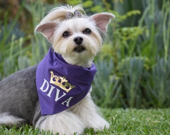 Funny Fur on Fleek Dog Bandana Dog Scarf Cute Dog Bandana